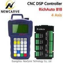 RichAuto DSP B18 4 osi CNC sterownik B18S B18E USB powiązania System kontroli ruchu do routera Cnc zastąpić A18 instrukcja NEWCARVE