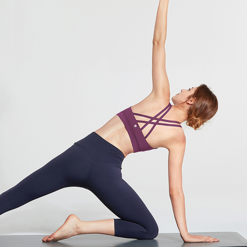 CRZ YOGA Women's Wirefree Padded Strappy Back Workout Yoga Sports Bra