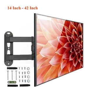 Image 1 - 18 كجم قابل للتعديل 14   42 بوصة رف لتثبيت التليفزيون على الحائط إطار شاشة تلفزيون مسطحة دعم 15 درجة إمالة ل LCD شاشة LED مسطح