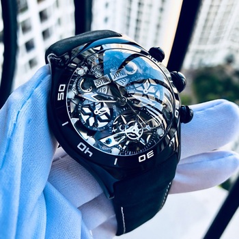 Reef Tiger/RT Mens Sport Watches Automatic Skeleton Watch Steel Waterproof Tourbillon Watch with Date Day reloj hombre RGA703 2