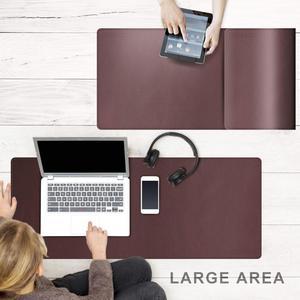 CENNBIE большой коврик для мыши 90x40 см из искусственной кожи, большой коврик для клавиатуры, Удлиненный Настольный коврик для офиса, дома, гейме...