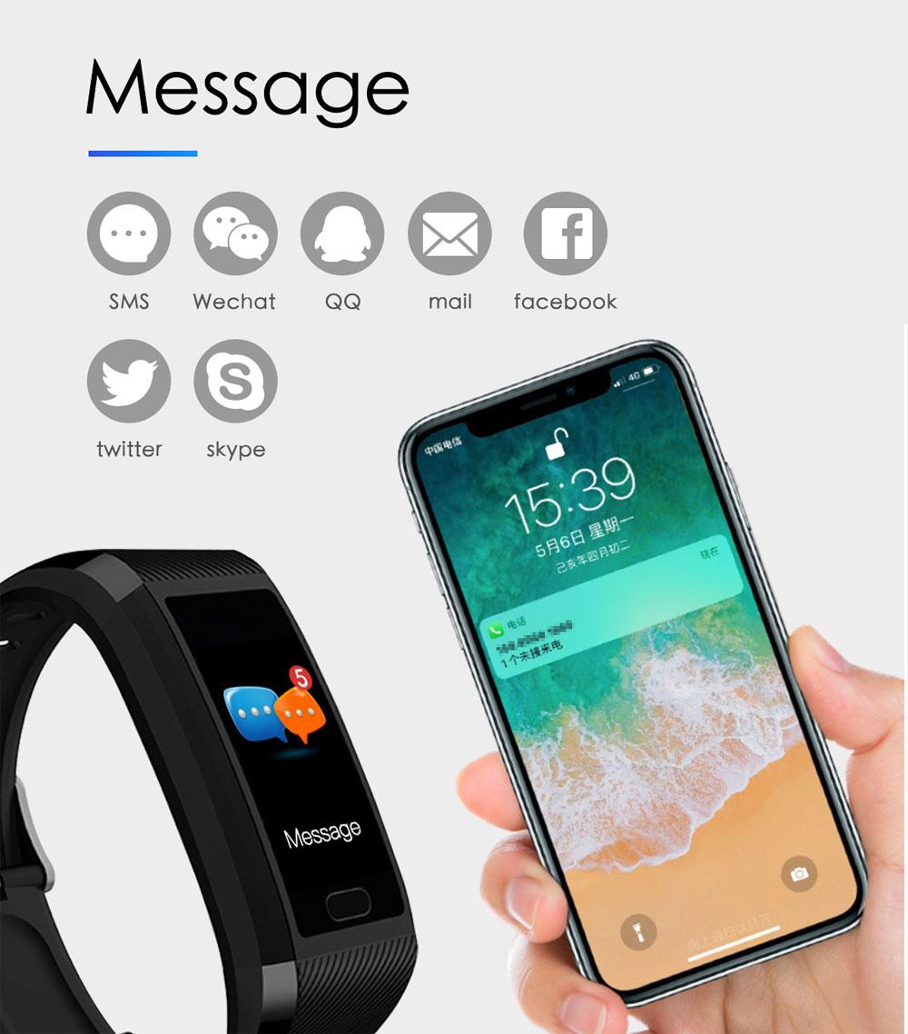 H39f183e1f17541fa823dec253172c70bm Fitness Bracelet Blood Pressure Measurement Waterproof Smart Band Bracelet Watch Fitness Tracker Heart Rate Activity Tracker