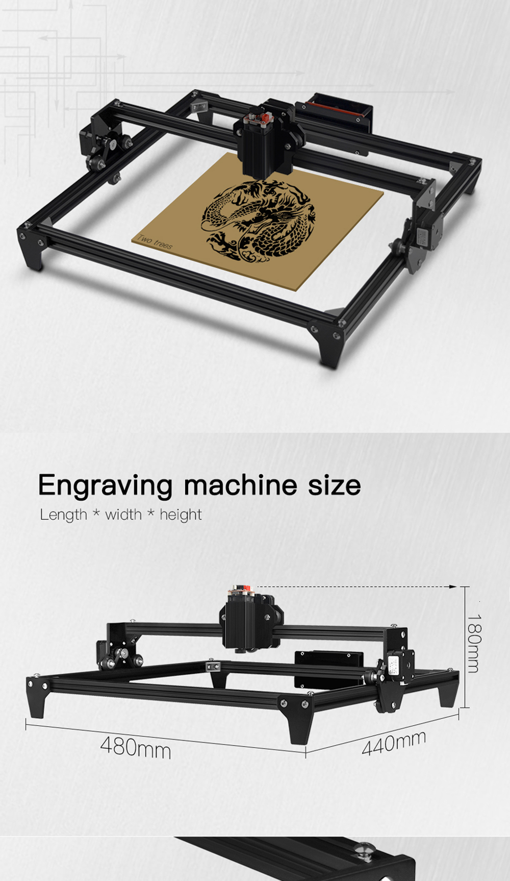 30x40cm 2-Axis CNC Laser Engraving Machine/Wood Router 11