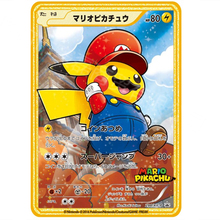 Japanese Pokemon Cards Gold Metal Anime Super Game Collection Cosplay Mario Transform Pikachu Cards Toys Children Christmas Gift