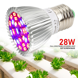 Image 4 - (8/Pack) 28W 28LED E27 LED Grow Light Full Spectrum Growing Led Lamp For Indoor Plants Hydroponics System Grow Tent Complete Kit