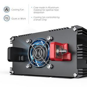 Image 3 - EDECOA power inverter 12V 220V 1500W pure sine wave 12V to AC 220V 230V off grid converter with remote control