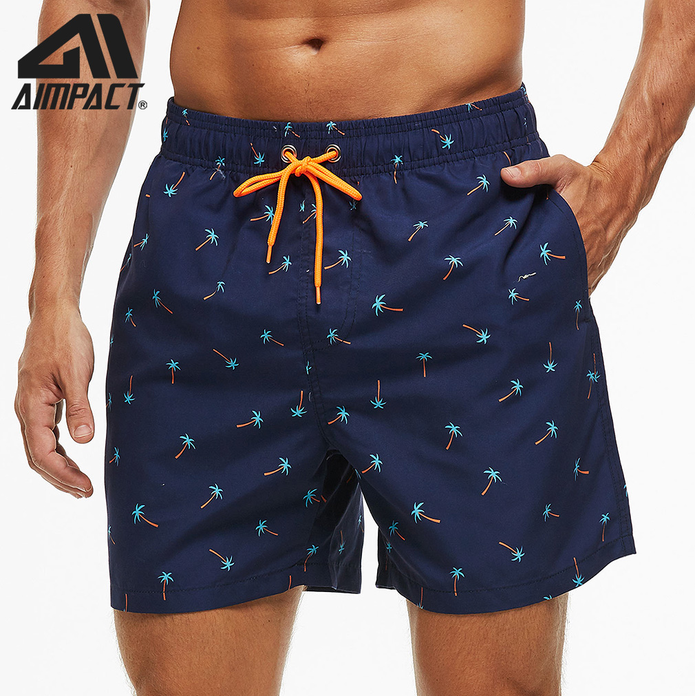 Men's Beach Shorts Swimming Trunks Fast Dry Swim Shorts With Mesh Liner And Pocket Surf For Men