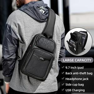 Image 2 - Fenruien 2020 nuevas bolsas de mensajero de hombro multifunción carga USB impermeable bolsos cruzados para hombre bolsa de pecho de viaje corto paquete