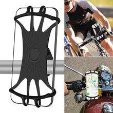 Soporte Universal de silicona para teléfono de bicicleta, banda para manillar de Huawei, para motocicleta, iPhone y Samsung
