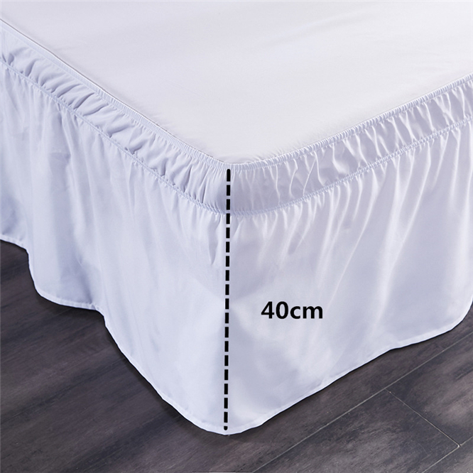 3 Size Bed Skirt White Bed Shirts Without Surface Elastic Band Single Queen King Easy On/Easy Off Bed Skirt Bedding Home Textile