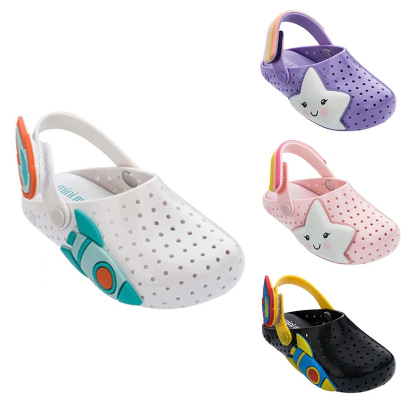 Mini Melissa 2020 New Girls Hole Sandal Children Breathable Non-Slippery Beach Slippers High Quality Summer Jelly Shoes MN019