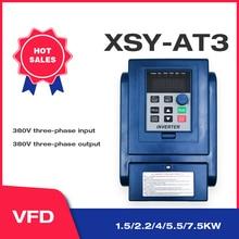 VFD 380V 4KW AC 380V 1.5kW/2.2KW/4KW/5.5KW/7.5KW napęd o zmiennej częstotliwości 3 fazy falownik do kontroli prędkości silnika falownik VFD