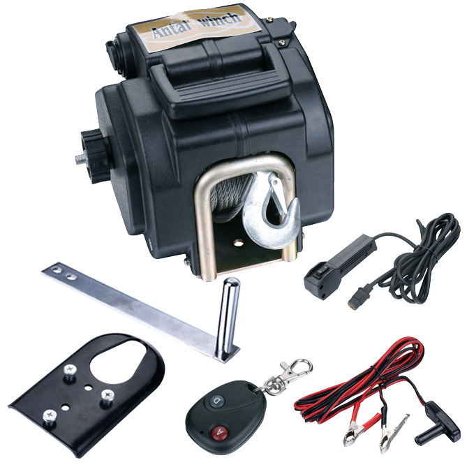 12V 3500 Pound Electric Marine Winch With Wireless Remote Contr