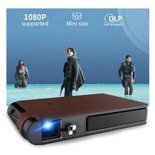 S6W Wifi Mini Di Động 3D Màn Trập Máy Chiếu Thông Minh Wifi Bỏ Túi DLP 8400MAh Pin Hỗ Trợ HD 1080P Miracast Proyector para Movil