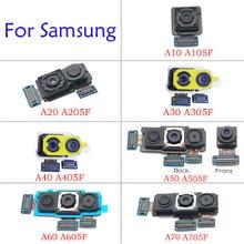 Rear Back & Front Big Small Module Facing Selfie Main Camera Ribbon Flex For Samsung A10 A20 A30 A40 A50 A60 A70 A105F A205F