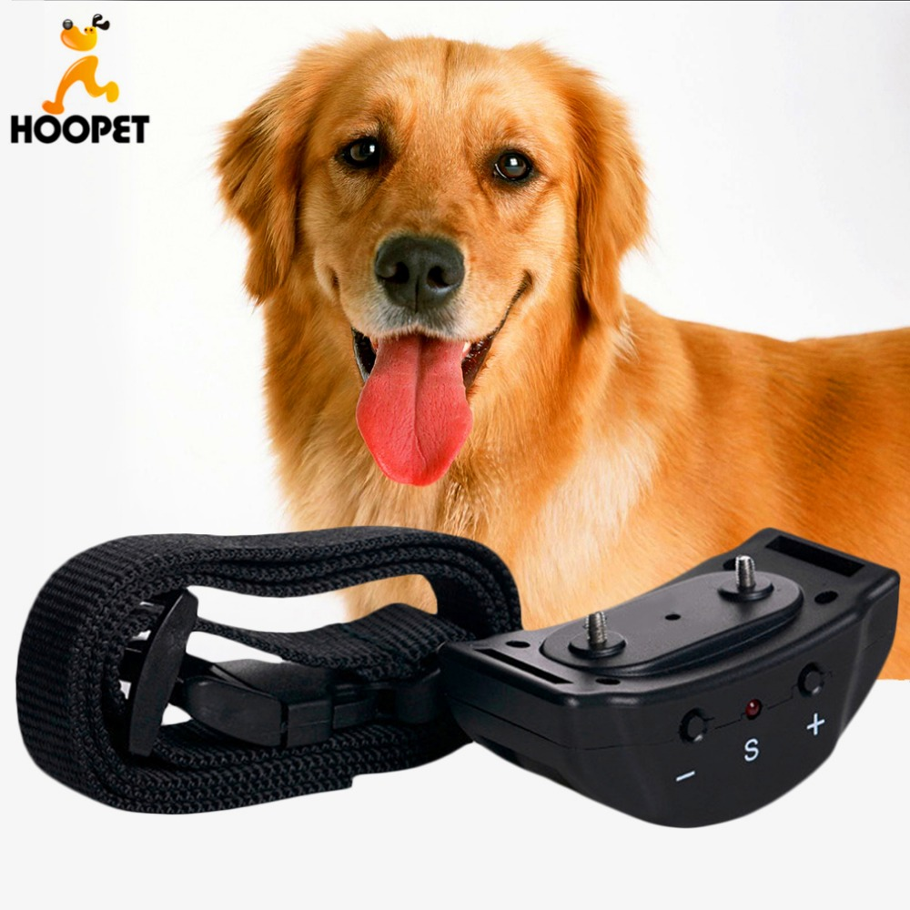 Hoopet Dog Anti Bark Control Collar Auto Vibration Shock Training Stop Barking Bark Deterrents Leather Leash