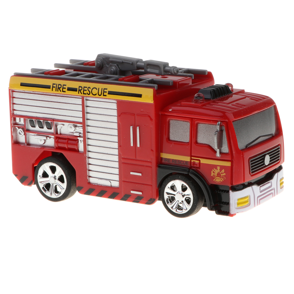 1/58 scale Remote Control RC Fire Truck <font><b>Electronic</b></font> <font><b>Car</b></font> Vehicle Model Toy with Light Xmas Gifts for <font><b>Kid</b></font> Firefighter Playset image
