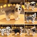 Игрушка плюшевая в виде собаки, Реалистичная кукла хаски и далматинца для щенка чихуахуа, 6 видов, домашний декор