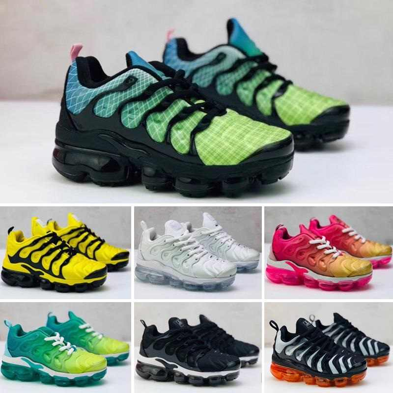 2020 Sports Running Shoes Children Boy Girls Trainers Sneakers Classic Outdoor Toddler Shoes Kids TN Plus Designer shoes 24-35