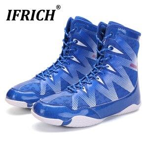 Zapatos de lucha para hombre, gran oferta, de talla grande 45 46, bota de boxeo para hombre, zapatos antideslizantes para levantar pesas, zapatos de gimnasio de goma para hombre 2020