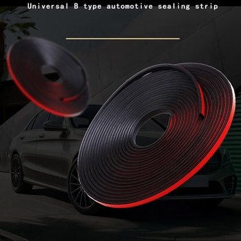 General B Type Automobile Rubber Sealing Strip Self-adhesive Rubber Strip Anti-Dust Weatherstrip Edge Trim Car Styling image