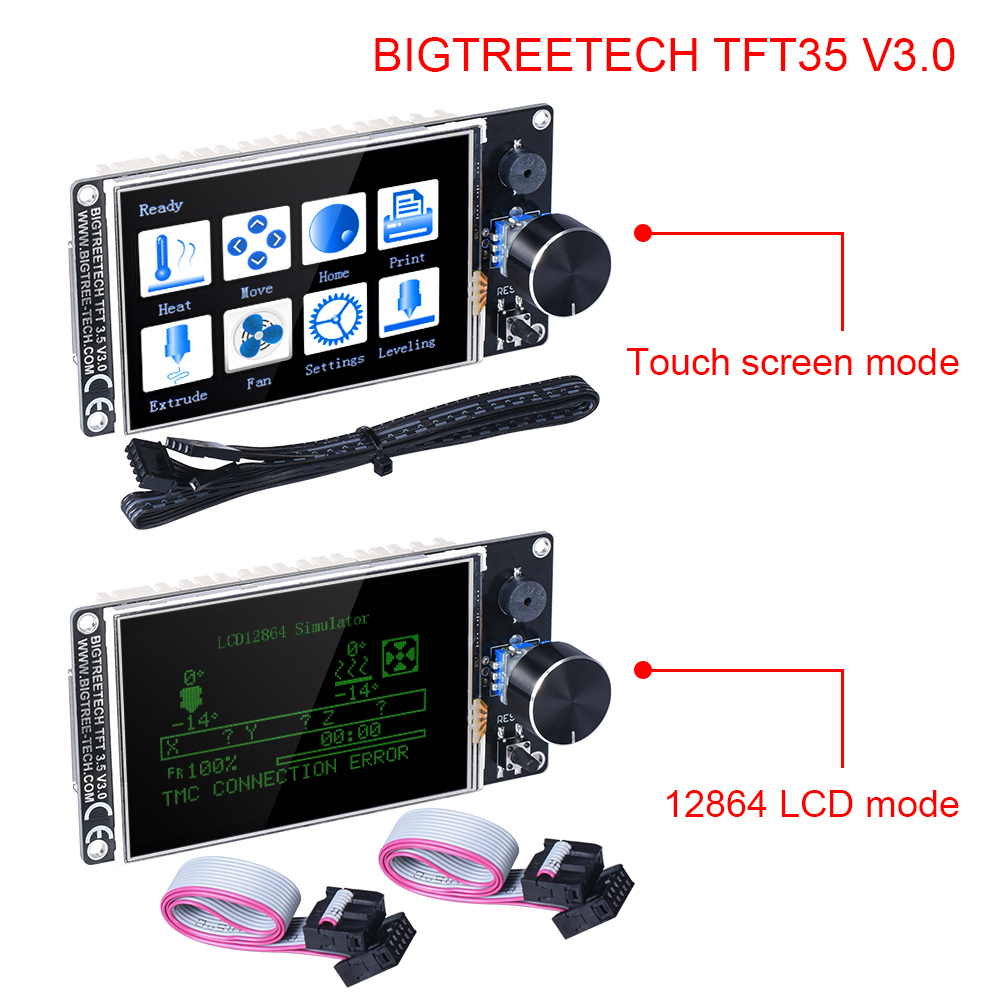 BIGTREETECH TFT35 V3.0 Touch Screen 3.5 Inch With WIFI 12864 LCD Display Mode Panel For MKS SKR V1.3 Pro Ender 3/5 3D Board