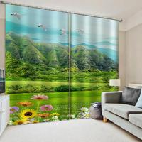 Luxury Blackout 3D Window Curtains For Living Room Bedroom Nature scenery green landscape curtains 3d curtain