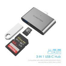 USB C to SD/Micro SD Card Readers with 3.0 Adapter for MacBook Pro (Thunderbolt 3), 2018 2019 iPad & Mac Air, 12