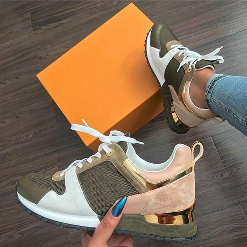 Siddons 2020 New Arrival Women Sneakers Fashion Mixed Color Casual Sports Running Shoes For Woman Suede Leather Comfort Sneakers