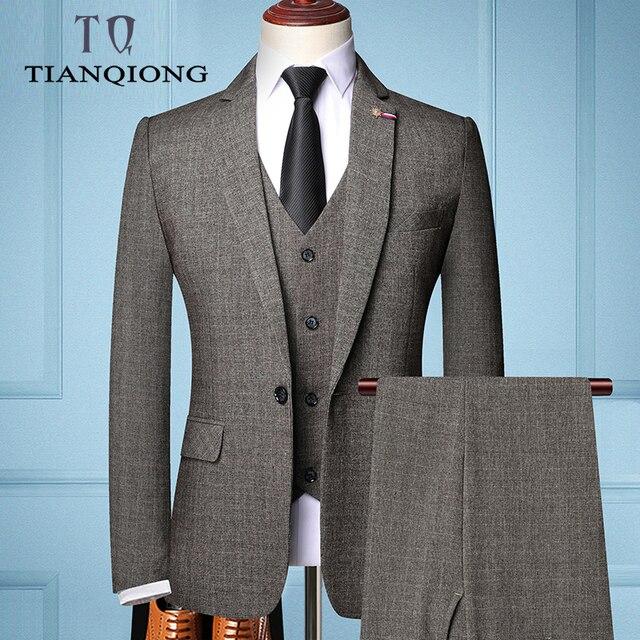 TIAN QIONG Brand Fashion Men 's Slim Fit Business Suit   1