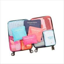 6 шт. дорожная сумка для хранения Набор для аккуратная Одежда Органайзер для одежды чехол для чемодана органайзер для путешествий сумка Упаковка для обуви сумка кубической формы