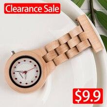 BOBOBIRD Wood Watch Promotion Sale Leather Strap Men Women W