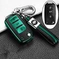 Car Key Cover Case For Volkswagen VW POLO Tiguan Passat B5 B6 B7 Golf EOS Scirocco Jetta MK6 Octavia Car Accessories keychain