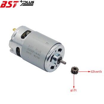 RS550Motor12Teeth (9 10 11 13 14 15 16 17 24T) (7,2, 9,6, 10,8, 12 14,4 16,8 18 25V)Gear3mmShaft para Taladro Inalámbrico destornillador