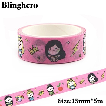 CA397 Girl Pink Washi Tape Set Kawaii Masking Tapes For Kids Decorative Tape Diary DIY Scrapbooking Sticker Label Stationery ca1434 vang gogh painting art decorative adhesive tape masking washi tape diy scrapbooking sticker label stationery