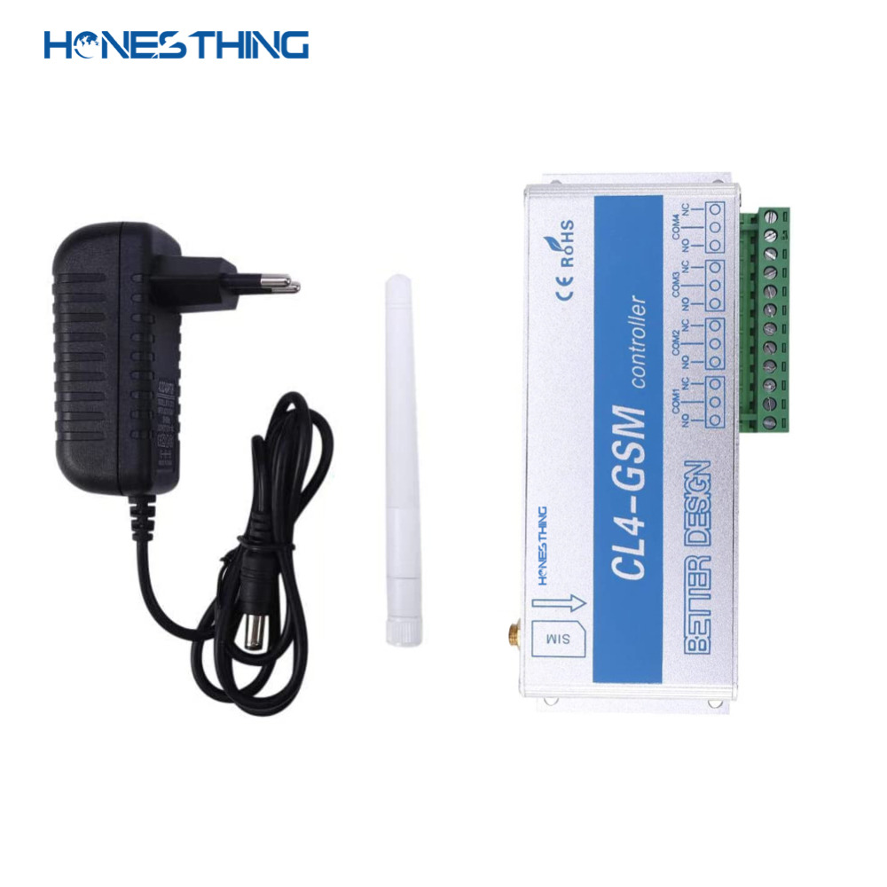 HonesThing GSM SMS Remote Switch Controller 4 Channel Relay Output Garage Gate Operate by Free Phone Call APP CL4-GSM 6