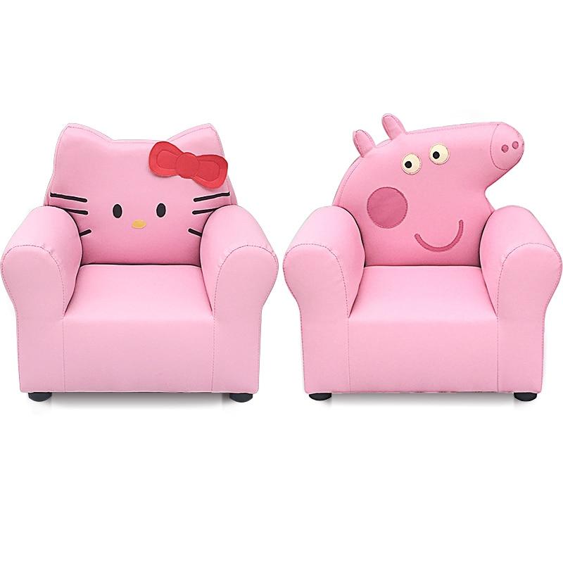 Boy Girl Princess Children Sofa Hellokitty Pig Peckey Cartoon Mini Sofa Single Chair Stool Chair For Kids