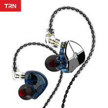 TRN ST1 1DD 1BA Hybrid In Ear auricolare HIFI DJ Monitor Running Sport auricolare auricolare cuffie con cavo QDC TRN V90 BA5