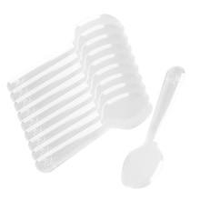 Plastic Spoons Flatware Dessert-Appetizer Ice-Cream Disposable Mini Clear for Jelly 200pcs