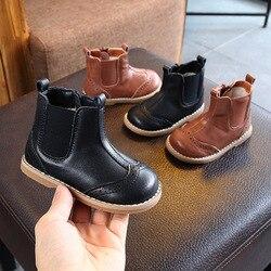 Buty dziecięce dla dzieci buty jesień i zima nowe chłopcy dziewczęta Martin buty buty z dzianiny dziecięce miękkie dno buty ze skóry