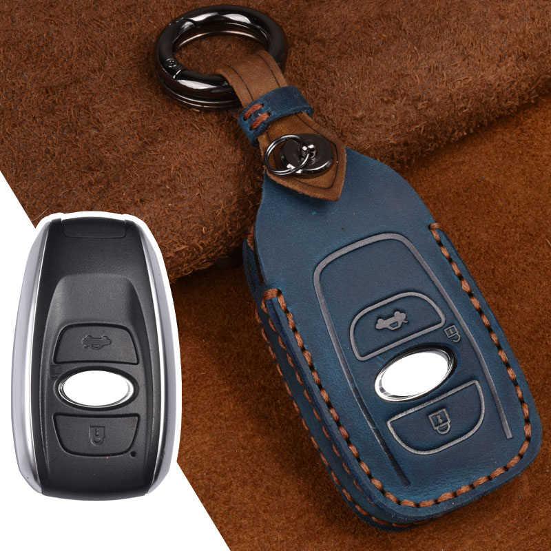 for Subaru Car Key Cover Premium Leather Key Fob Cover Holder Protector for Subaru Impreza Forester Legacy Ascent Outback CVT Subaru BRZ XV Crosstrek STI WRX Remote Car Key Case Key