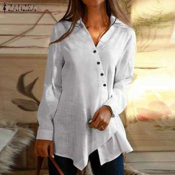 Long Sleeve Asymmetrical Blouse 1