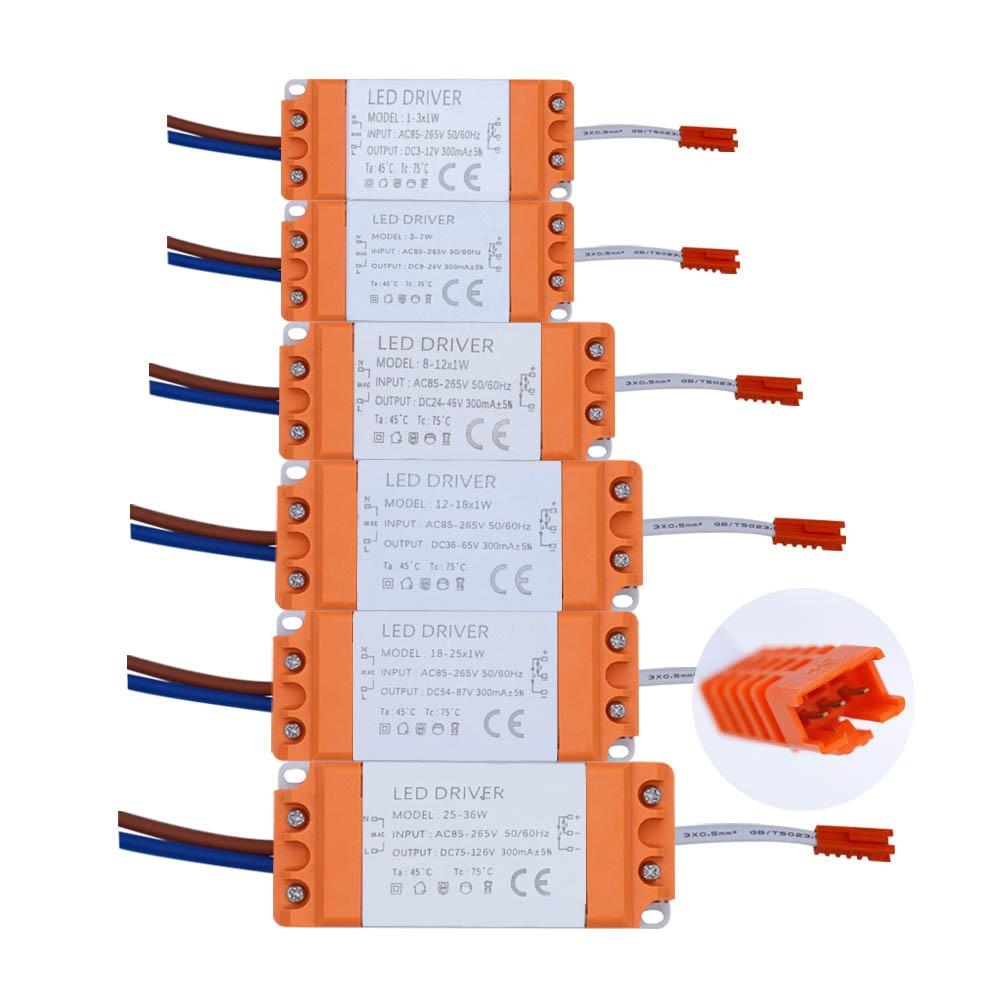 18 25Watt IN 300mA Konstantstrom LED Treiber Transformator AC85 265V