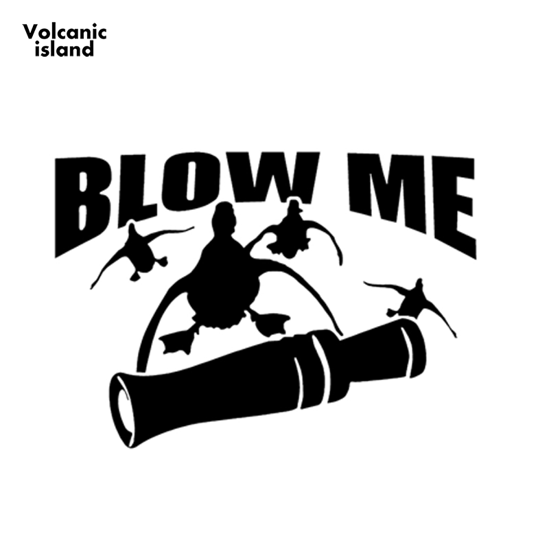 Wild Birds Animal Blow Me Duck Hunting Car <font><b>Sticker</b></font> <font><b>Motorhome</b></font> Minicab Motorcycles Car Styling Waterproof Vinyl <font><b>Decal</b></font> image