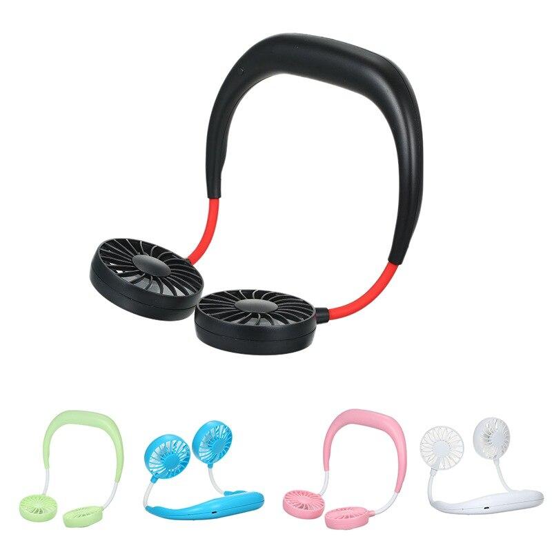 USB Portable Fan Hands-free Neck Hanging USB Charging Mini Portable Sports Fan 3 Gears Usb Air ConditionerGM