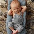 Комбинезон для младенцев мальчиков девочек крошечные хлопковые в 2018 году серый без рукавов новорожденных одежда комбинезон комбинезоны Детский комбинезон костюм от 0 до 24 месяцев - фото
