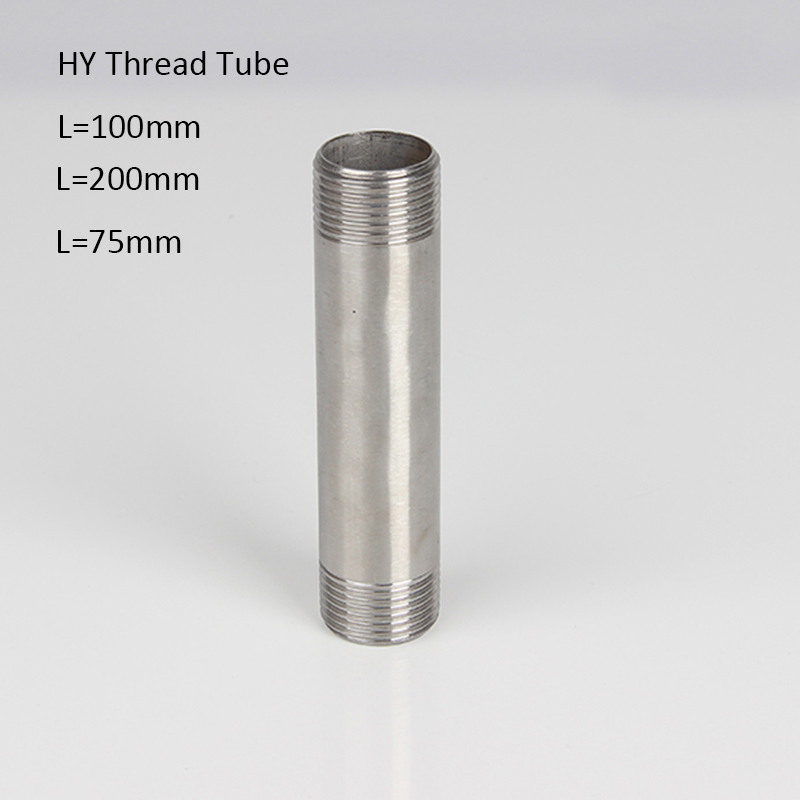 Water connection  Male X Threaded Pipe Fitting Thread Tube SS304 Spool