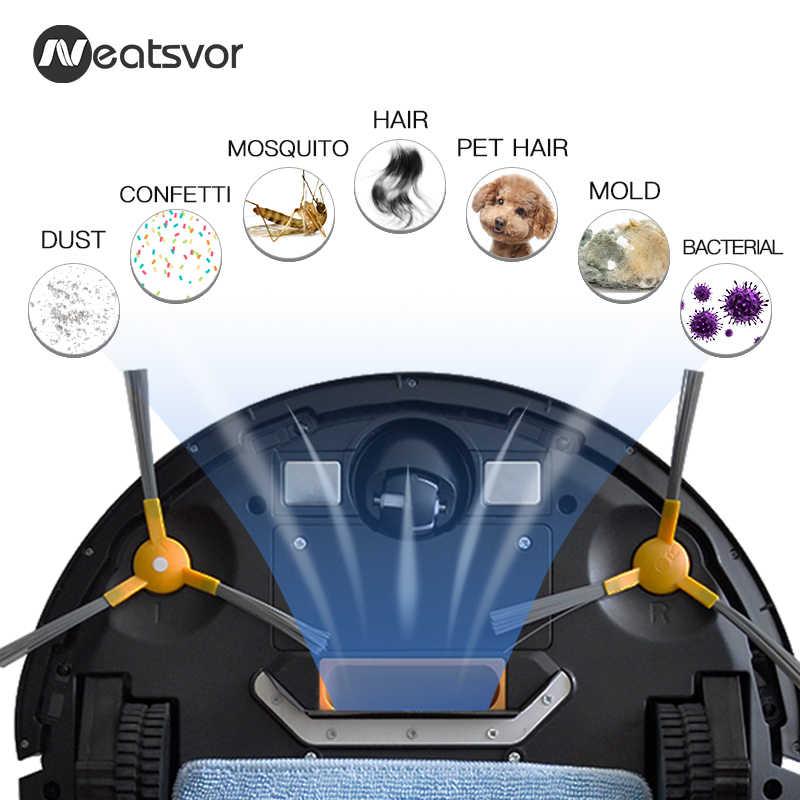 NEATSVOR V392 робот-пылесос, уборочная и влажная Швабра для полов и ковров, приложение для управления картой навигации, планируемый автоматический заряд робота 1800PA