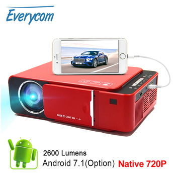 Everycom T6 LED Video Projector HD 720P Portable HDMI Option Android Wifi Beamer Support 4K Full HD 1080p Home Theater Cinema