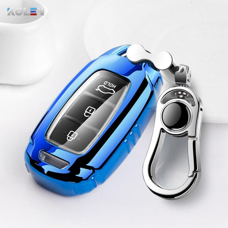 ТПУ чехол ключа дистанционного управления автомобилем чехол для Hyundai Santa I30 IX35 Encino KONA Solaris Azera Grandeur Elantra Accent Santa Fe TM Palisade